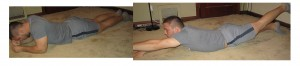 Basic low back crunches
