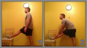 Stretch exercise for hamstring
