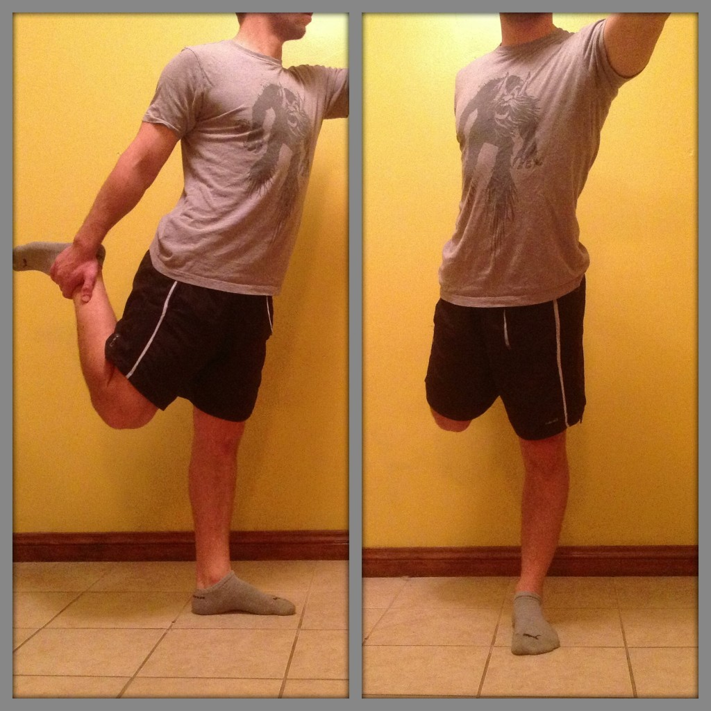 Stretch exercise for quadriceps 1