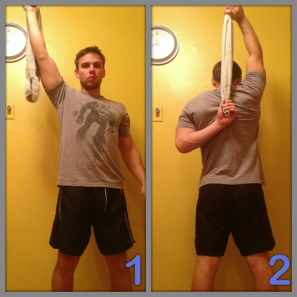Stretch exercise for shoulders